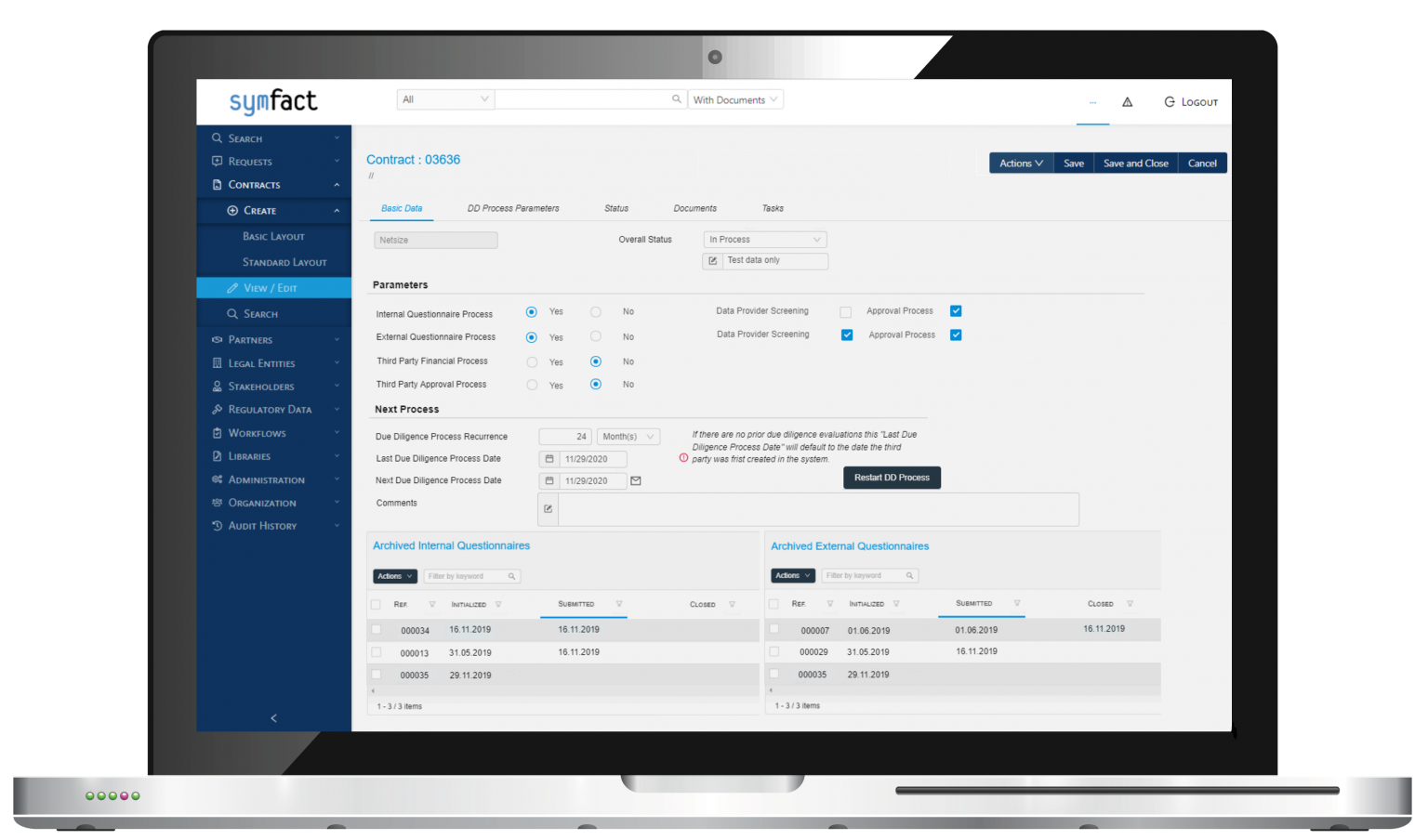Symfact Third Party Management Software