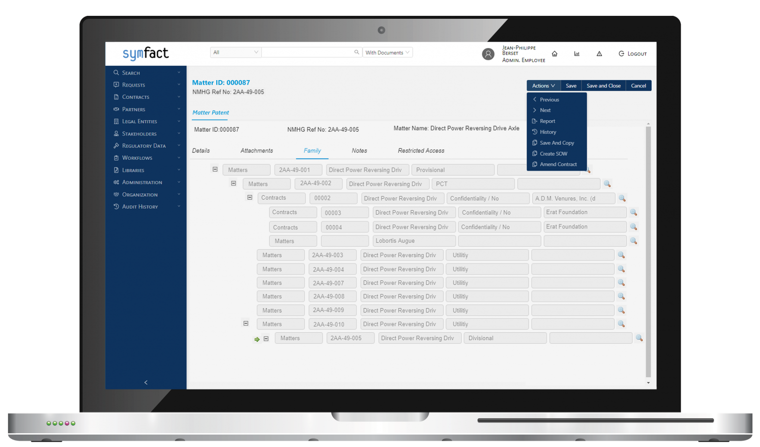 Symfact Outsourcing Value Management Software