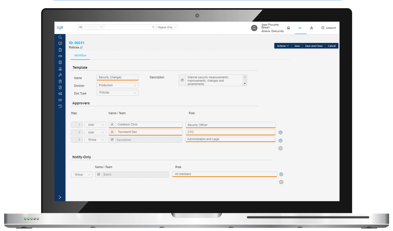 Symfact Policy Management Software