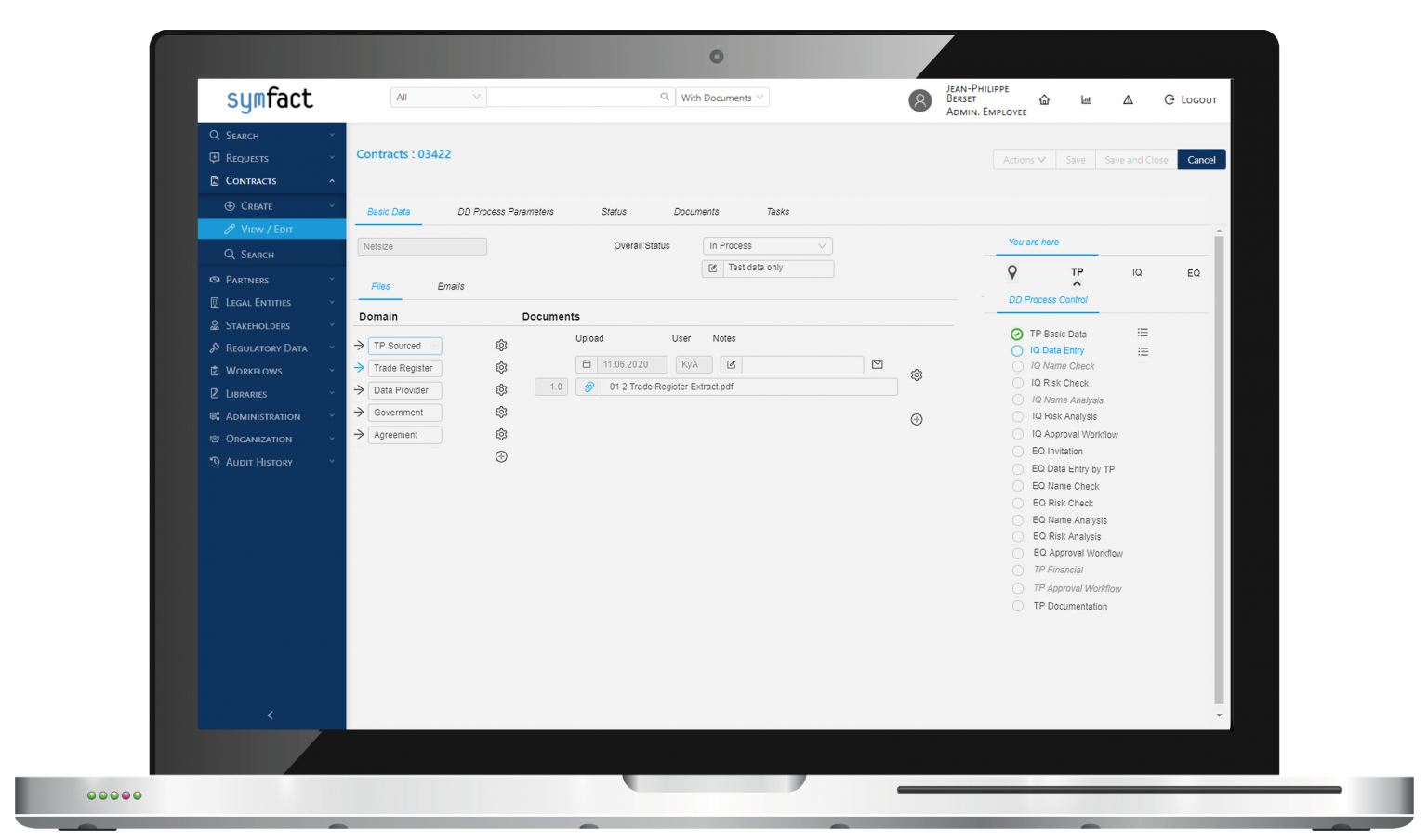 Symfact Third Party Risk Management Software